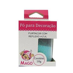 Pó para decoração furtacor com reflexo azul 10g Mago Rizzo Confeitaria