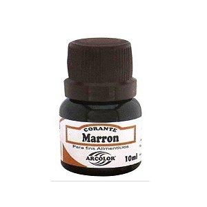 Corante Liquido marrom 10ml Arcolor Rizzo Confeitaria