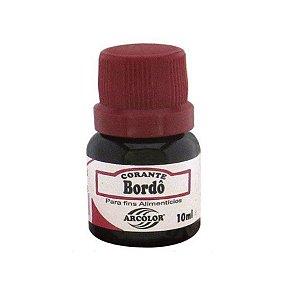 Corante Liquido bordo 10ml Arcolor Rizzo Confeitaria