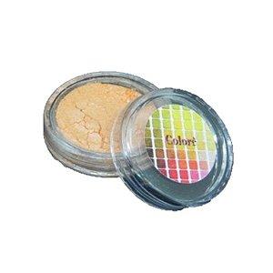 Pó para decoração, Brilho para superficie Colorê Laranja 1,9g LullyCandy Rizzo Confeitaria