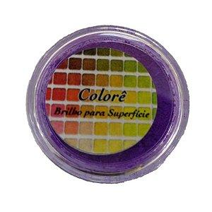Pó para decoração, brilho para Superfície colorê roxo fluor 2g LullyCandy Rizzo Confeitaria