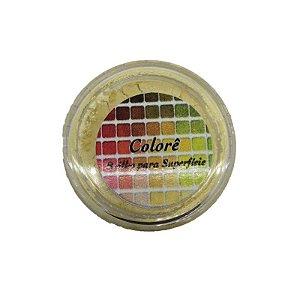 Pó para decoração, Brilho para superficie Colorê Amarelo 2g LullyCandy Rizzo Confeitaria