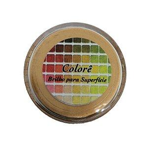 Pó para decoração, Brilho para superficie Colorê Bronze Metalizado 2g LullyCandy Rizzo Confeitaria