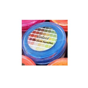 Pó para decoração, Brilho para Superficie Colorê Azul Flúor 2g LullyCandy Rizzo Confeitaria