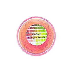 Pó para decoração, Brilho para superficie Colorê Laranja Escuro Flúor 2g LullyCandy Rizzo Confeitaria