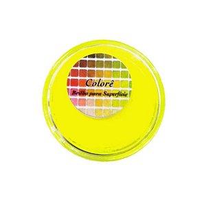 Pó para decoração, brilho para superficie colorê amarelo fluor 2g LullyCandy Rizzo Confeitaria
