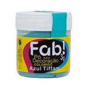 Pó para decoração azul tiffani 3g Fab Rizzo Confeitaria