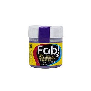 Pó para decoração ultravioleta 3g Fab Rizzo Confeitaria