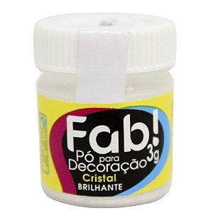 Pó para decoração cristal brilhante 3g Fab Rizzo Confeitaria