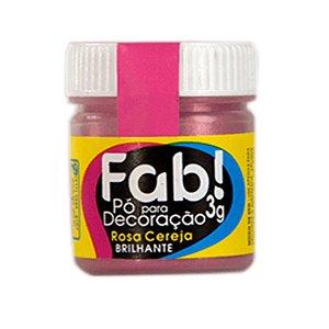 Pó para decoração rosa cereja brilhante 3g Fab Rizzo Confeitaria
