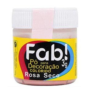 Pó para decoração rosa seco 3g Fab Rizzo Confeitaria