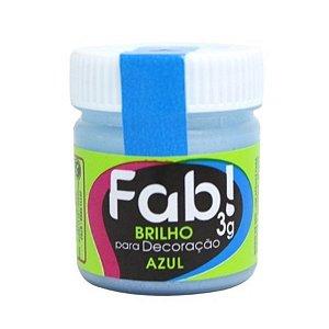 Brilho para Decoração Azul 3g Fab Rizzo Confeitaria