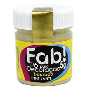 Pó para decoração dourado cintilante 5g Fab Rizzo Confeitaria