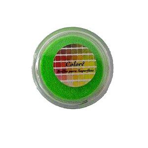 Brilho para superficie, Gliter Verde Cítrico 9PP 1,5g LullyCandy Rizzo Confeitaria
