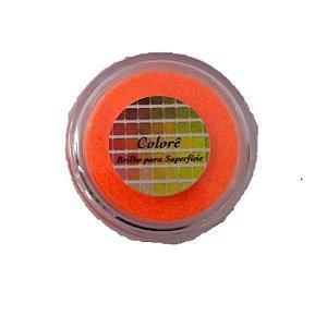 Brilho para superficie, Gliter Laranja Citrico 2g LullyCandy Rizzo Confeitaria