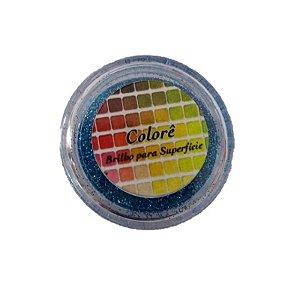 Brilho para superficie, Gliter Azul 12PP 1,5g LullyCandy Rizzo Confeitaria