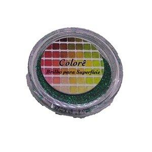 Brilho para superficie, Gliter Diamante Verde PP 1,5g LullyCandy Rizzo Confeitaria