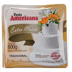 Pasta americana tradicional 800g Arcolor Rizzo Confeitaria
