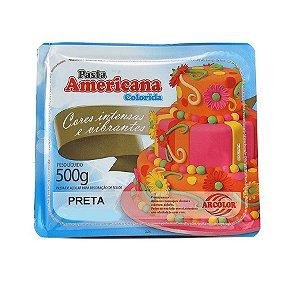 Pasta americana preta 500g Arcolor Rizzo Confeitaria