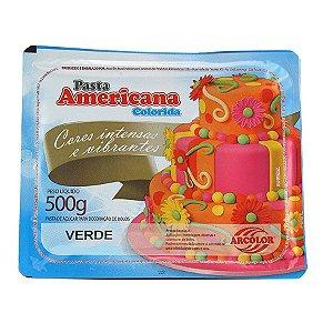 Pasta americana verde 500g Arcolor Rizzo Confeitaria