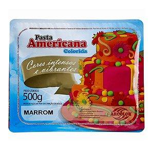 Pasta americana marrom 500g Arcolor Rizzo Confeitaria