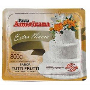 Pasta americana tuti fruiti 800g Arcolor Rizzo Confeitaria