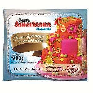 Pasta americana roxo halloween 500g Arcolor Rizzo Confeitaria