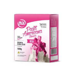 Pasta americana rosa 500g Mix Rizzo Confeitaria