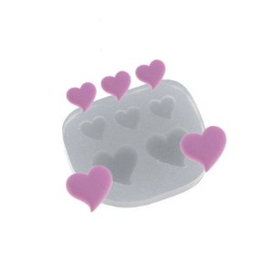 Molde de silicone Mini Corações Ref. 428 Flexarte Rizzo Confeitaria