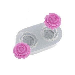 Molde de silicone Par de Rosinhas Amy Ref. 468 Flexarte Rizzo Confeitaria