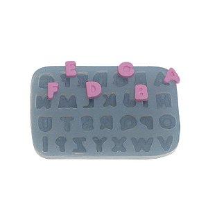 Molde de silicone Alfabeto Ref. 299 Flexarte Rizzo Confeitaria