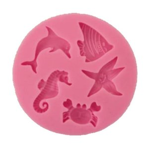 Molde de silicone Fundo do Mar Peixes S163 Molds Planet Rizzo Confeitaria