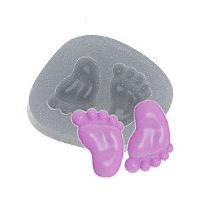 Molde de silicone Pezinhos Ref. 198 Flexarte Rizzo Confeitaria