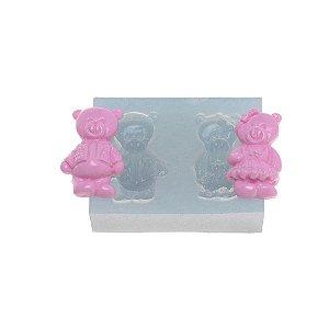 Molde de silicone Casal de Urso Ref. 302 Flexarte Rizzo Confeitaria