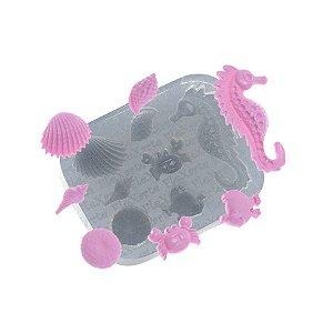 Molde de silicone Fundo do Mar Ouriço Ref. 527 Flexarte Rizzo Confeitaria