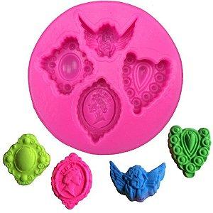 Molde de silicone Camafeu S127 Molds Planet Rizzo Confeitaria