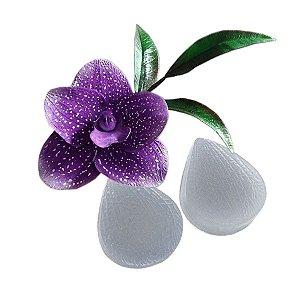 Molde de silicone Veiner Orquídea Ref. 538 Flexarte Rizzo Confeitaria