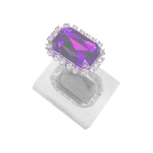 Molde de silicone Pedra quadrada Ref. 172 Flexarte Rizzo Confeitaria