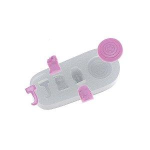 Molde de silicone Mini Super Heróis Ref. 392 Flexarte Rizzo Confeitaria