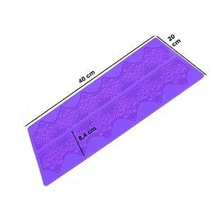 Molde de silicone Tapete Rendas de Açucar S53 Molds Planet Rizzo Confeitaria