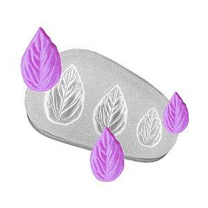 Molde de silicone Folhas Ref. 202 Flexarte Rizzo Confeitaria