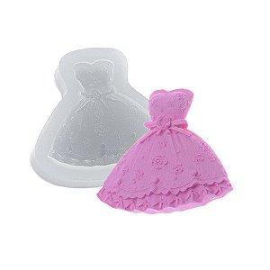 Molde de silicone Vestido de Casamento grande Ref. 413 Flexarte Rizzo Confeitaria