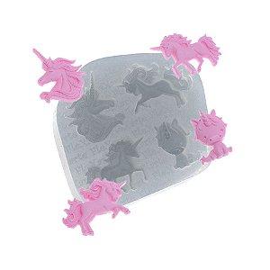 Molde de silicone Mini Unicórnios Ref. 532 Flexarte Rizzo Confeitaria