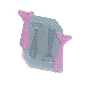 Molde de silicone Par de gravatas Ref. 441 Flexarte Rizzo Confeitaria