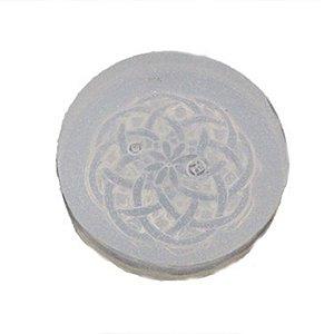 Molde de silicone Botão com detalhe Ref. 49 Flexarte Rizzo Confeitaria