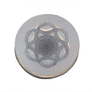 Molde de silicone Botão Mandala Ref. 48 Flexarte Rizzo Confeitaria