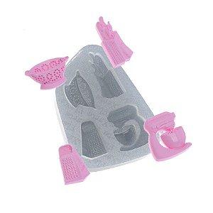 Molde de silicone Utensílios com Batedeira Ref. 536 Flexarte Rizzo Confeitaria