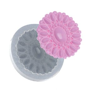 Molde de silicone Medalhão Sunny Ref. 509 Flexarte Rizzo Confeitaria