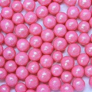 Confeitos comestíveis Pérola Grande Rosa escuro 106 Jeni Joni Rizzo Confeitaria