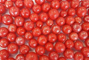 Confeitos comestíveis Pérola Grande Vermelha Ref. 106 Jeni Joni Rizzo Confeitaria